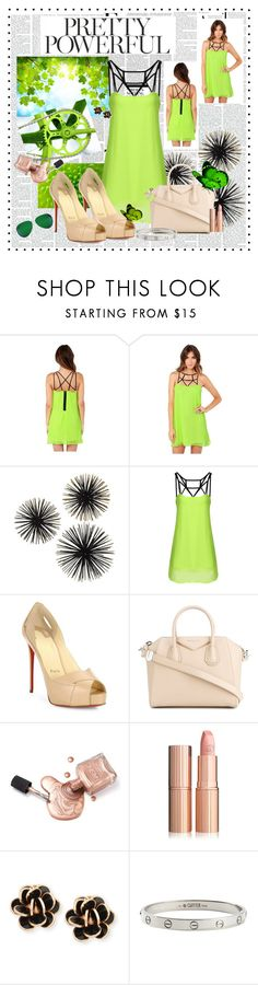 """""""Pretty Powerful"""" by toribelle-x ❤ liked on Polyvore featuring Nicki Minaj, MAKOTO, Christian Louboutin, Givenchy, Chantecler, Cartier and Victoria Beckham"""