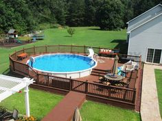 Deck Above Ground Pool Blue.Central Pools And Spas Inground Swimming Pool . Doughboy Century Oval Steel Pool X With Super . The Davies Inground Pool Boldt Pools Spas. Home and furniture ideas is here Above Ground Swimming Pools, Swimming Pools Backyard, Swimming Pool Designs, In Ground Pools, Indoor Pools, Above Ground Pool Landscaping, Backyard Pool Landscaping, Backyard Pool Designs, Deck Patio