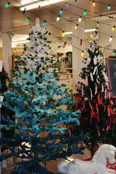 Ombre trees - with fabric!  Gorgeous