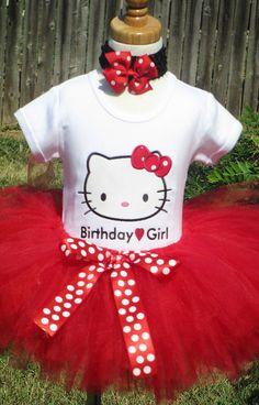 Beautiful Red Hello Kitty Birthday Tutu by TutuBellaCoutureLtd, $49.95