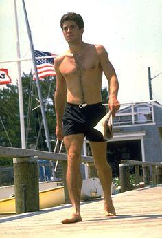 July 8, 1986: JFK, Jr. at Hyannis Harbor the day before his sister Caroline's wedding.