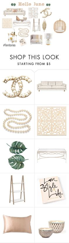 """Pearl"" by chanel5-coco ❤ liked on Polyvore featuring interior, interiors, interior design, home, home decor, interior decorating, Jonathan Adler, DaVonna, Safavieh and Donna Karan"