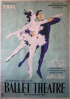 Fratini; Studio Favalli, Vintage Italian Poster. American National Ballet