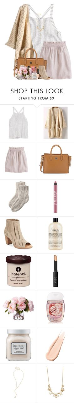 """Love me or leave me alone"" by livnewell ❤ liked on Polyvore featuring Splendid, J.Crew, Tory Burch, Too Faced Cosmetics, TOMS, philosophy, NARS Cosmetics, Laura Mercier, Hourglass Cosmetics and Kendra Scott"