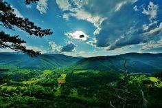 View from Seneca Rocks in West Virginia by Joshua Rexrode