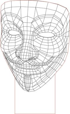 Acrile LED Anonymous mask 3D illusion lamp vector file