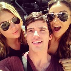"""When Ian was the luckiest guy in the world to be in the middle of this selfie. 