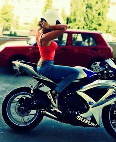 Very very beautiful and sexy Motorbike Girl, Motorcycle Boots, Girl Bike, Motorcycle Girls, Biker Boys, Biker Girl, Motocross, Honda Fireblade, Party Banner