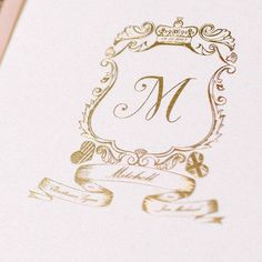 Custom Monogram + Crest | See the wedding on #SMP Weddings: http://www.stylemepretty.com/little-black-book-blog/2013/12/19/orchardleigh-house-wedding/  Ed Peers Photography