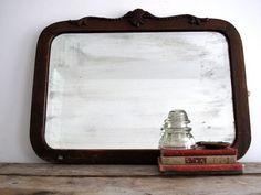 Old Bathroom Mirror | ... Mirror - Vintage Art Deco Hanging Mirrors - Decorative Bathroom Decor