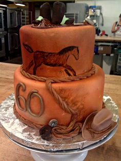 Western 60th Birthday Cake by Cakes by Look, via Flickr