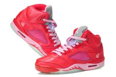 sale retailer 77d91 fb7a1 ir Jordan V Retro GS Valentines Day Pink Flash Pink Jordans, Nike Air  Jordans,