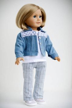 American Girl Denim and Lace-4 Pieces