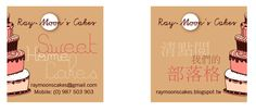 Name Cards for Ray Moon Cakes by ISHEN Design