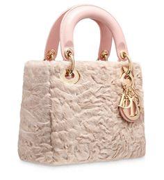 LADY DIOR - Astrakhan foulard-print 'Lady Dior' mini bag