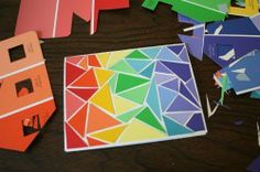 Paint chip greeting cards.  I pick up paint chips every time I go to a store that sells paint. Finally, a project!
