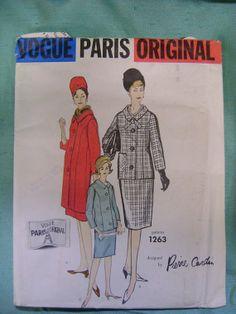 1960s Pierre Cardin Vogue Paris Original Pattern | Vogue 1263