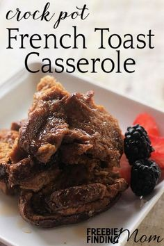 Is it tough getting everyone ready, fed and out the door on time in the morning? Save yourself time by preparing this yummy breakfast the night before or as soon as you wake up then let your crock pot do the rest of the work. This Crock Pot French Toast Casserole recipe is a perfect way to add a little sweetness to your morning plus by the time everyone is dressed and ready, you'll have a warm, filing and delicious breakfast that the entire family will devour (even the pickiest eaters).