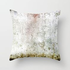 Abstract wall red painting Throw Pillow