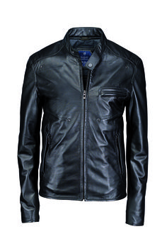 #TuesdayTreasure | Sporty leatherjacket with  stand-up collar in black #bugattifashion #menswear #leatherjacket