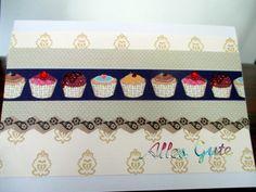 Handmade card with a cupcake theme