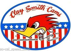 CLAY-SMITH-MR-HORSEPOWER-DECAL-RAT-HOT-ROD-DRAG-RACING-NHRA-GASSER-WOODPECKER