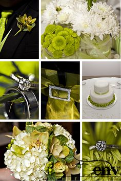 never had green as a favorite color...until looking at wedding pictures. LOVE.