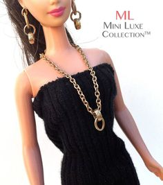 Doll Jewelry for Barbie dolls Poppy Parker by MiniLuxeCollection, $22.00