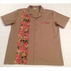 Camisa bolera Roses Skulls