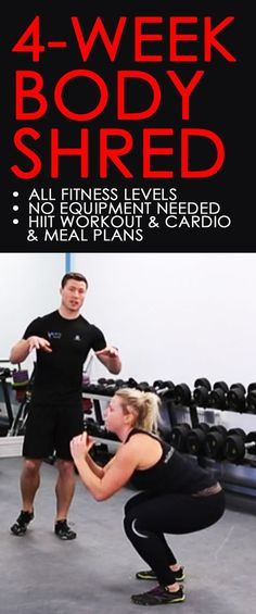 4-week no-equipment training and diet program designed to change your eating and exercise habits as well as the way you look and feel. Once you see the results, it will be easier to continue for the long term too. What seems impossible today will one day
