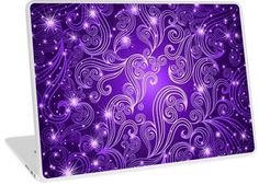 Celestial Purple Swirls & Stars | Design available for PC Laptop, MacBook Air, MacBook Pro, & MacBook Retina