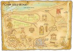 Un mapa del Campamento Mestizo - Rick Riordan