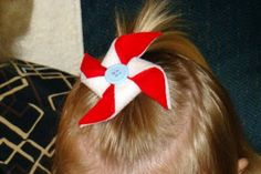Pinwheel Hair Clippie