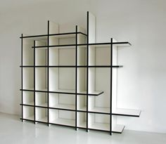 Wabi Bookcase & Room Divider  https://www.architonic.com/en/product/neil-david-wabi-bookcase/1318838    Don't miss:  34 Freestanding Shelving Systems that double as Room Dividers  http://vurni.com/freestanding-shelving-systems-roomdividers/