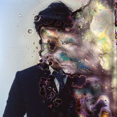 """""""Impermanence"""" is a series of portraits by Korean photographer and microbiologist Seung-Hwan Oh. He drowns the camera films, bacteria and fungi eat away at it to leave these partially destroyed portraits. Glitch Art, Experimental Photography, Abstract Photography, A Level Photography, Film Photography, Memories Photography, Photography Magazine, Photography Ideas, William S Burroughs"""