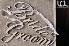 Laser Cut Rustic Wedding Signs, Groom and Bride Sign