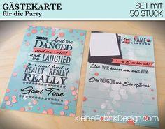 *50 Gästebuchkarten für Eure Party* Ihr sucht eine Alternative zum klassischen Gästebuch für Eure Party oder Hochzeit? Oder vielleicht möchtet Ihr, als Freunde, dem Gastgeber eine tolle Erinnerung...
