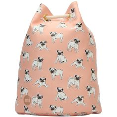 Mi-Pac Pugs Swing Backpack, Multi (57 CAD) ❤ liked on Polyvore featuring bags, backpacks, backpack travel bag, mi pac backpack, snap bag, embroidered bag and print backpacks