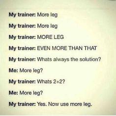 More leg!