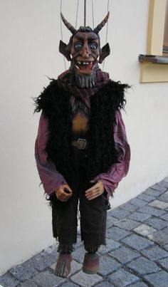 Teufel, marionette puppe