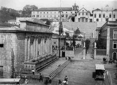 Chafariz da Carioca, foto de 1893, projetado por Grandjean de Montigny e inaugurado em 1840, demolido na década de 20.