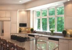 picture window over kitchen sink - Google Search