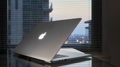 ноутбук, стол, apple, macbook, pro retina, окно
