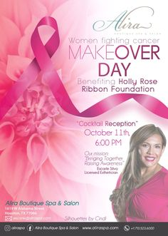WOMEN FIGHTING CANCER MAKEOVER DAY Boutique Spa, Fighting Cancer, Fundraisers, Breast Cancer, Charity, Houston, Foundation, Ribbon, Parties