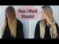 My New Hair Color!! | How I went Blonder - YouTube