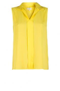 Mouwloze blouse Pistache | Paul & Joe
