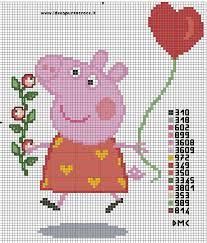 Image result for free peppa Pig cross stitch Graphs patterns