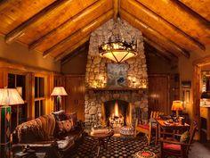 Star Lake cabin rental - Oak Cabin-Great Room