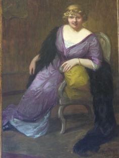 Henriette MOREL - portrait  ...Femme d'un riche industrielle de la soierie Lyonnaise.