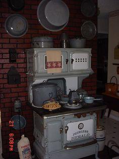 Late 1800s Kitchen Kitchen wood Stove and Kitchens